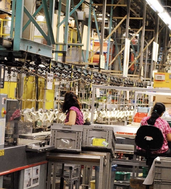 Legrand production line on factory floor