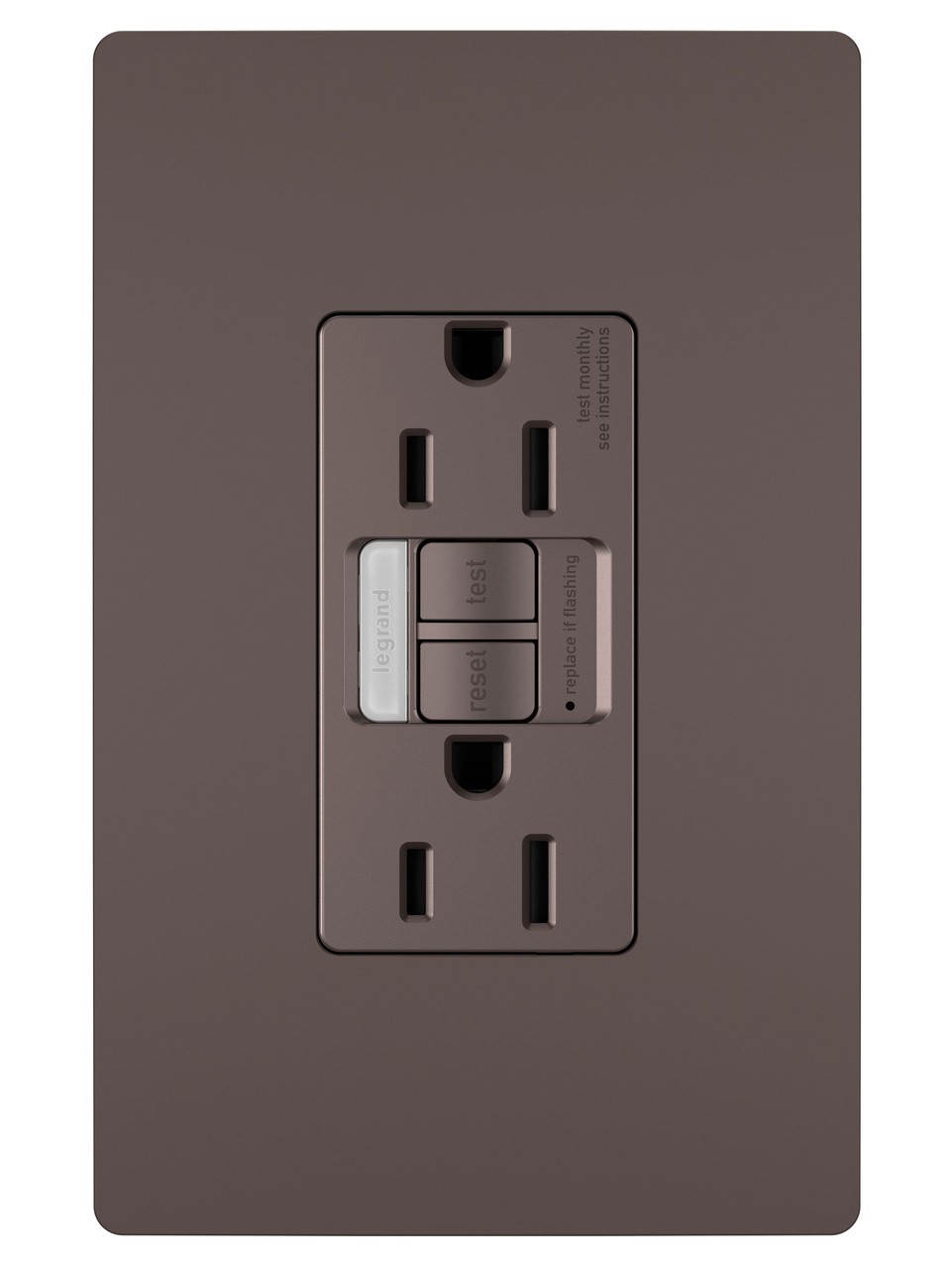 Combination Tamper-Resistant 15A Self-Test Night Light/GFCI, Dark Bronze