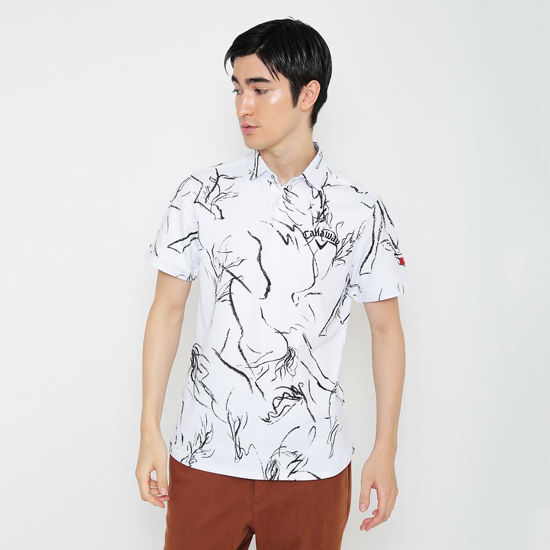 CALLAWAY RED LABEL  ホースプリントカノコ半袖シャツ (MENS)