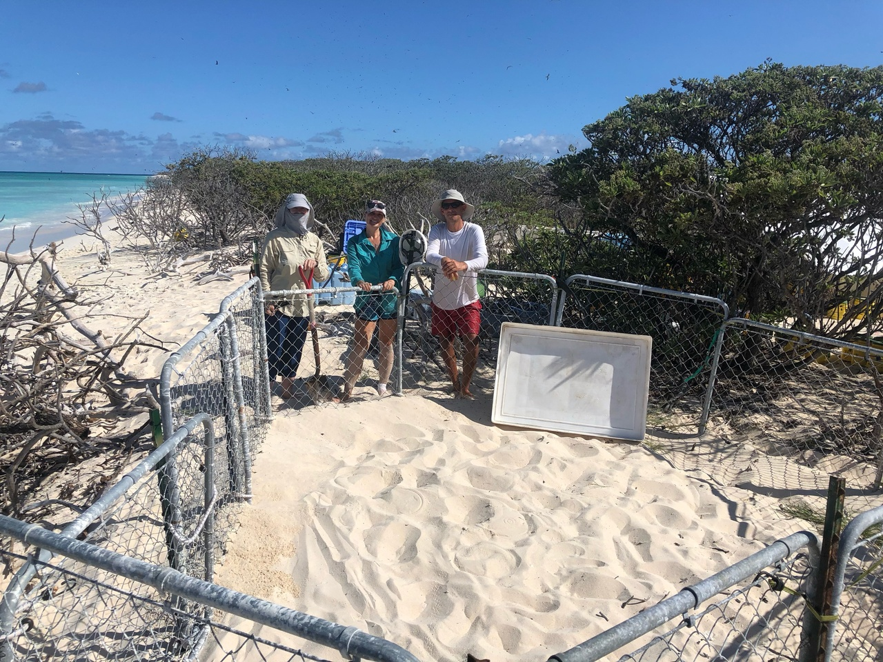 Lisianski Shore pen for monk seals.
