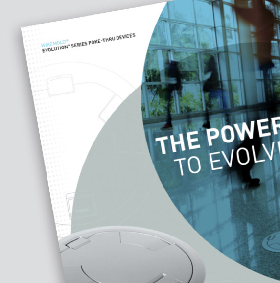 front cover of evolution poke-thru heavy-duty covers brochure