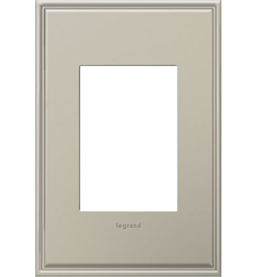 adorne 1-Gang+ Antique Nickel Wall Plate