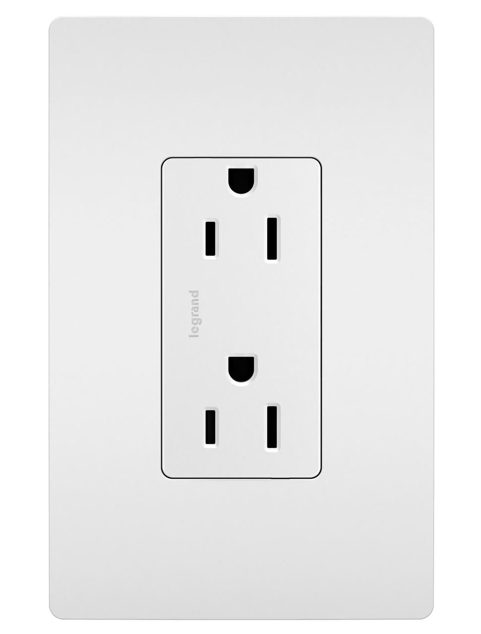 Self-Grounding Tamper-Resistant Receptacle, White
