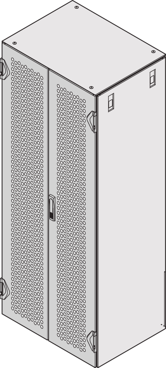 Image for New Double door IP 20, perforated, 3-point locking (Varistar) from Schroff - North America