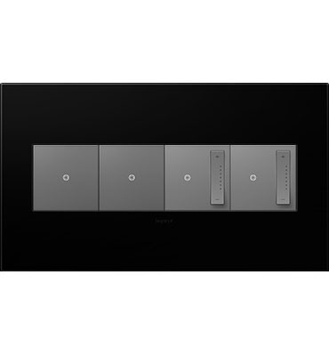 adorne 4-Gang Black Ink Wall Plate