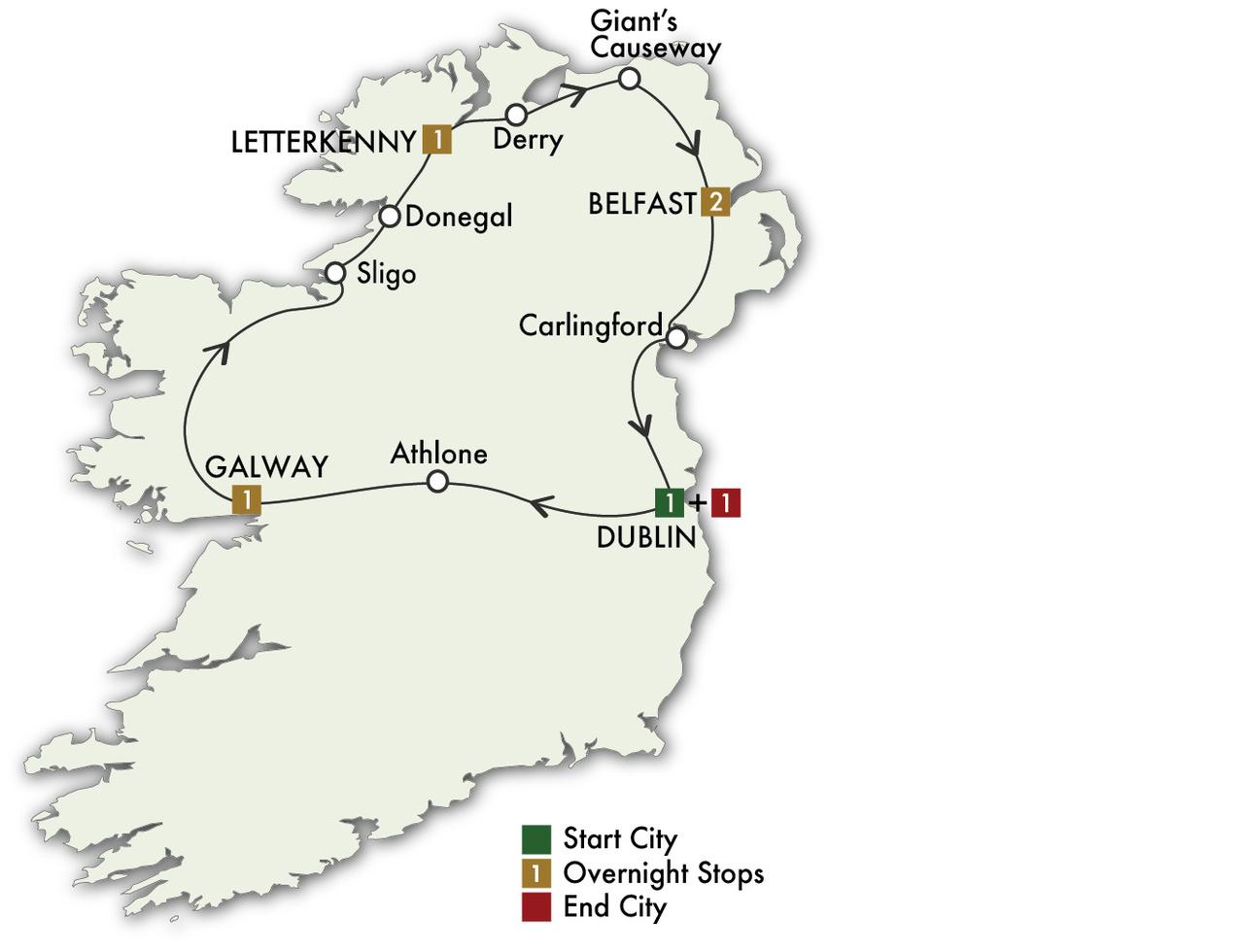 2022 Evergreen Ireland North - 7 Days/6 Nights