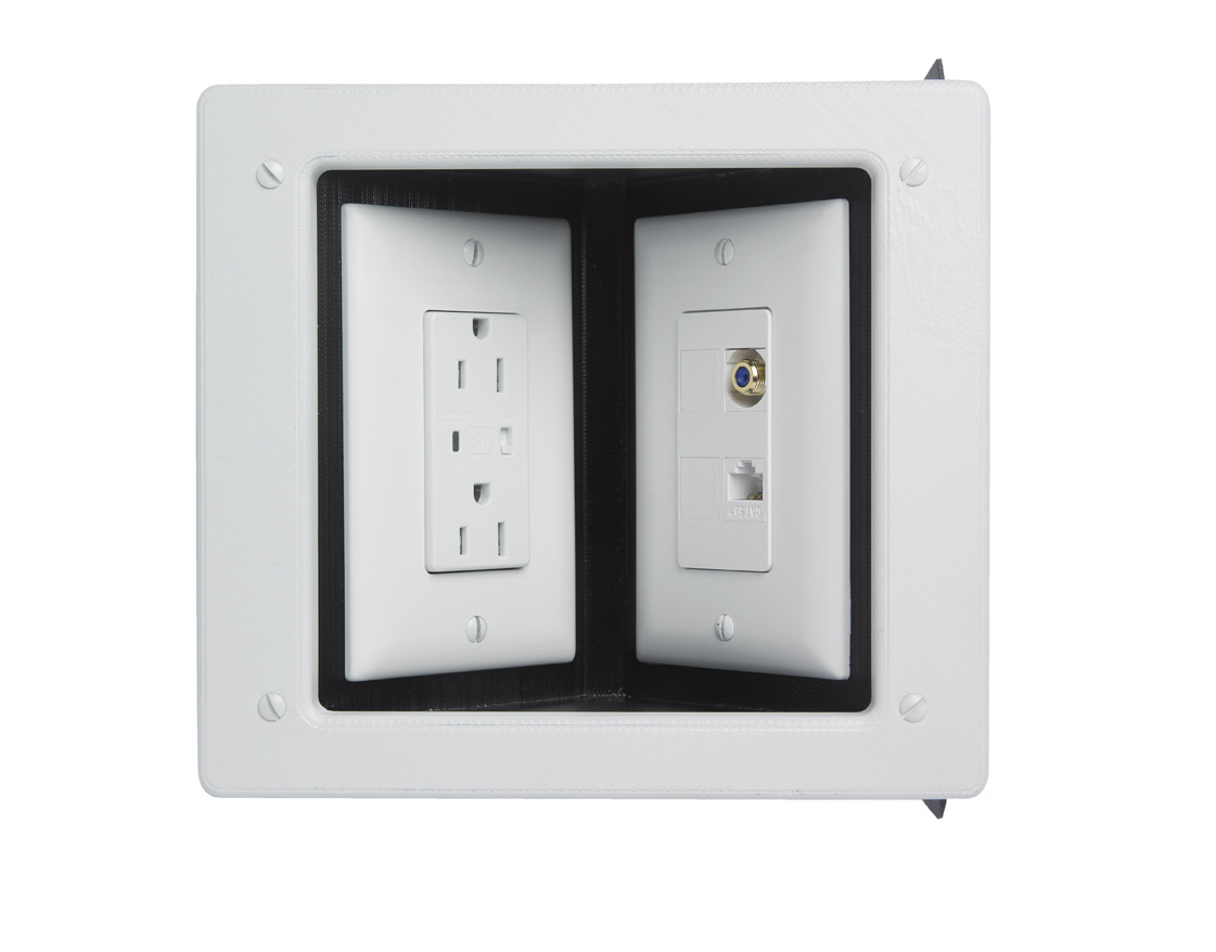 Single Gang Recessed Tv Box With Metal Electrical Box