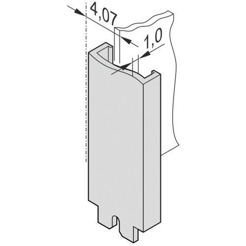 Image for Front panel, unshielded, front assembly, for Multibus II from Schroff - North America