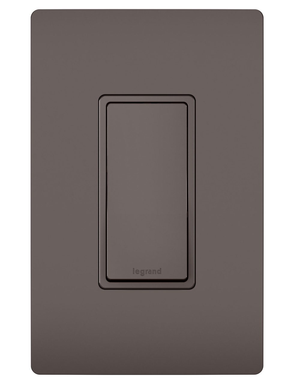 15A Self-Grounding Single Pole Switch, Brown