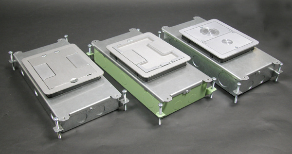 Two-Compartment Single- or Multi-Service Recessed Floor Box, RFB2