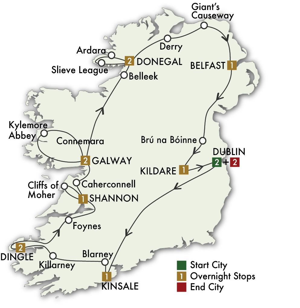 2022 Jewels of Ireland - 15 Days/14 Nights