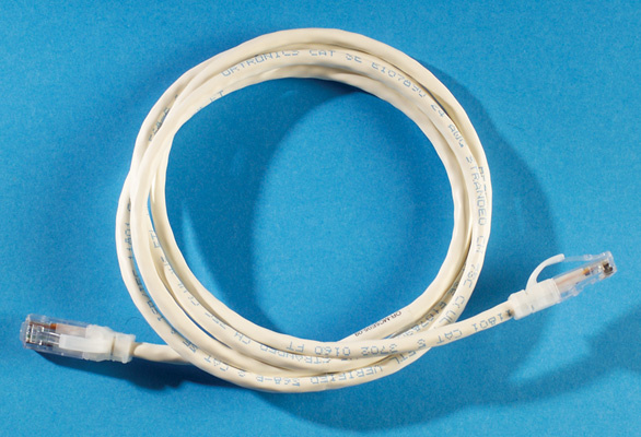 Clarity 5E Modular Patch Cord, 5', white, OR-MC5E05-09