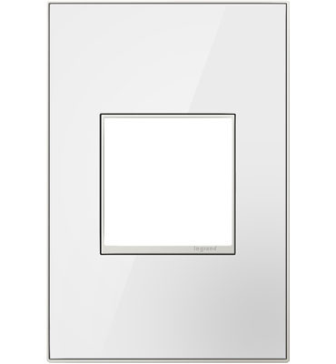 adorne 1-Gang Mirror White Wall Plate