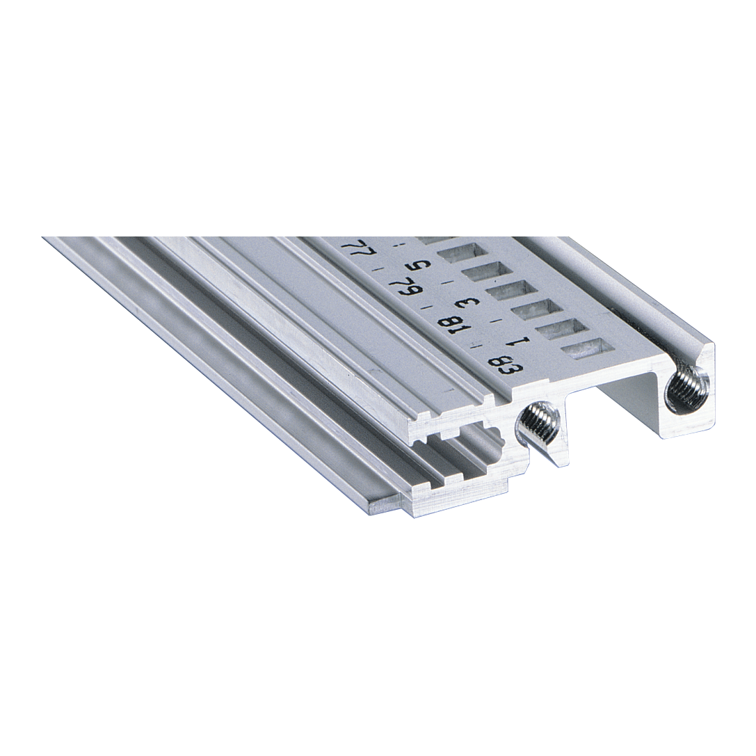 Image for Horizontal rail, front, type H-KD robust, short lip from Schroff - Asia Pacific