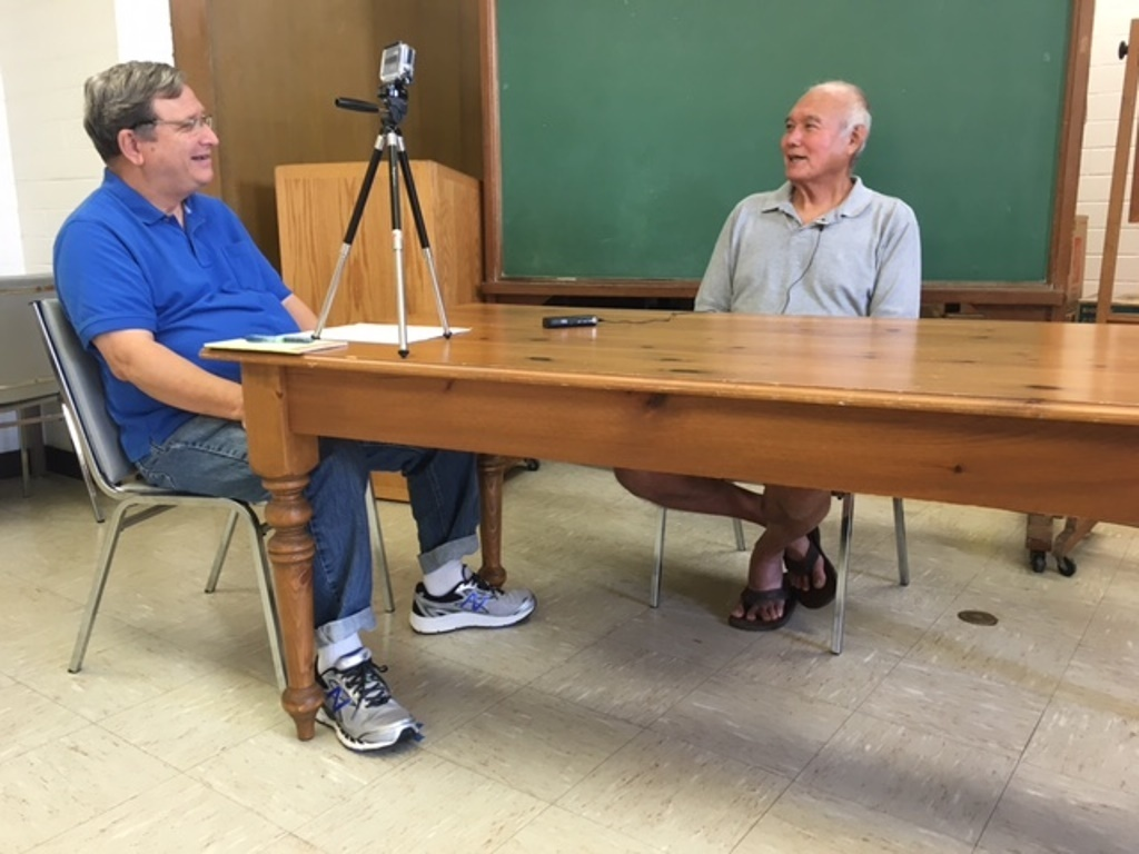 Bob Moffitt interviews Leonard Yamada in support of the Hawaii bottomfish Heritage Project (January 2017).