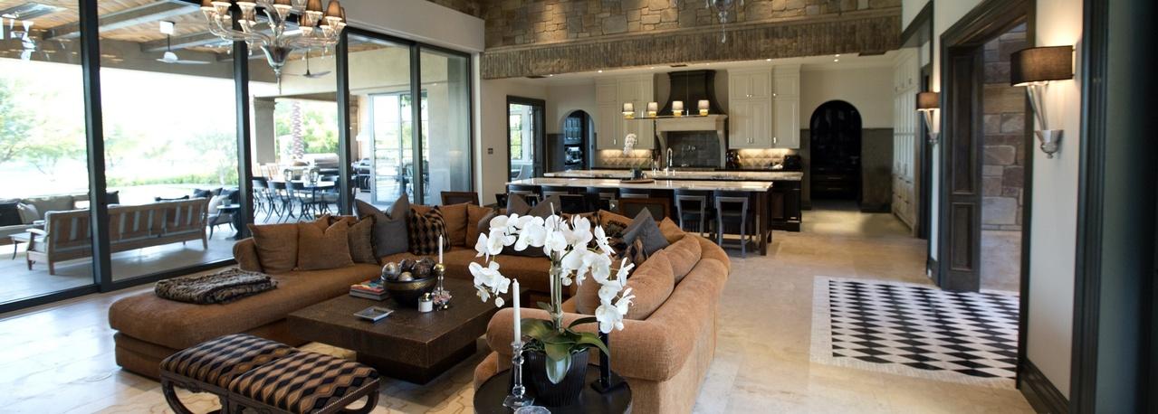 high-end living room home interior
