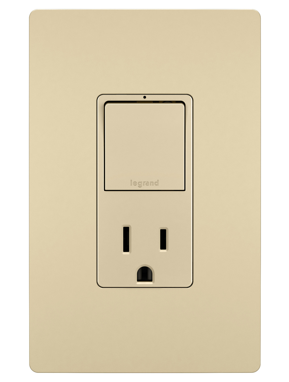 Single Pole/3-Way Switch & 15A Tamper-Resistant Outlet, Ivory