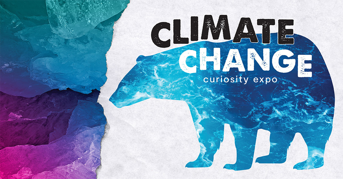 Pacific Science Center Climate Change Curiosity Expo event banner.