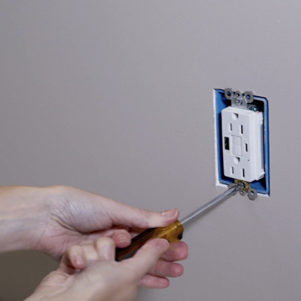installation of radiant collection GFCI USB outlet