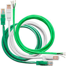 Light control panel green wire and cable set