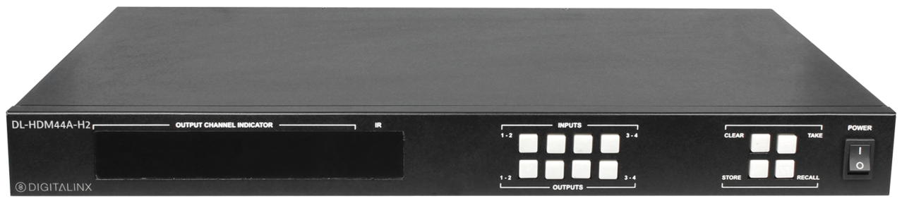 DL-HDM44A-H2 - 4x4 HDMI 2 0 18G 4K/HDR Matrix Switch w/audio