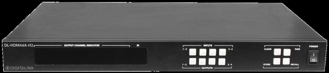 DL-HDM44A-H2 - Digitalinx 4x4 HDMI 2 0 Matrix Switcher