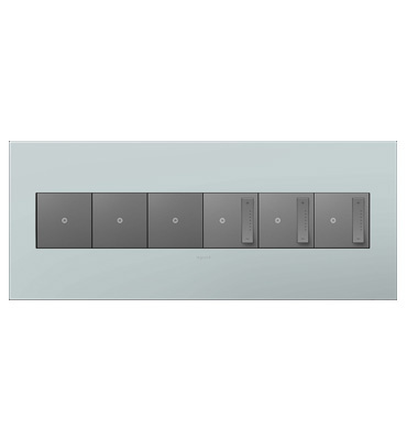 adorne 6-Gang Pale Blue Wall Plate