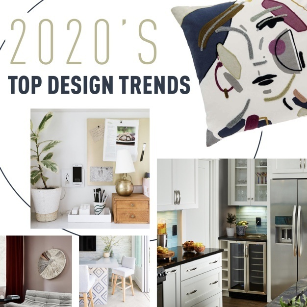 2020 design trends image collage with paint