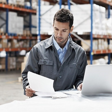 Mobile image of a distributor in a warehouse facility