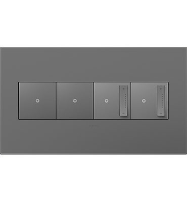 adorne 4-Gang Magnesium Wall Plate