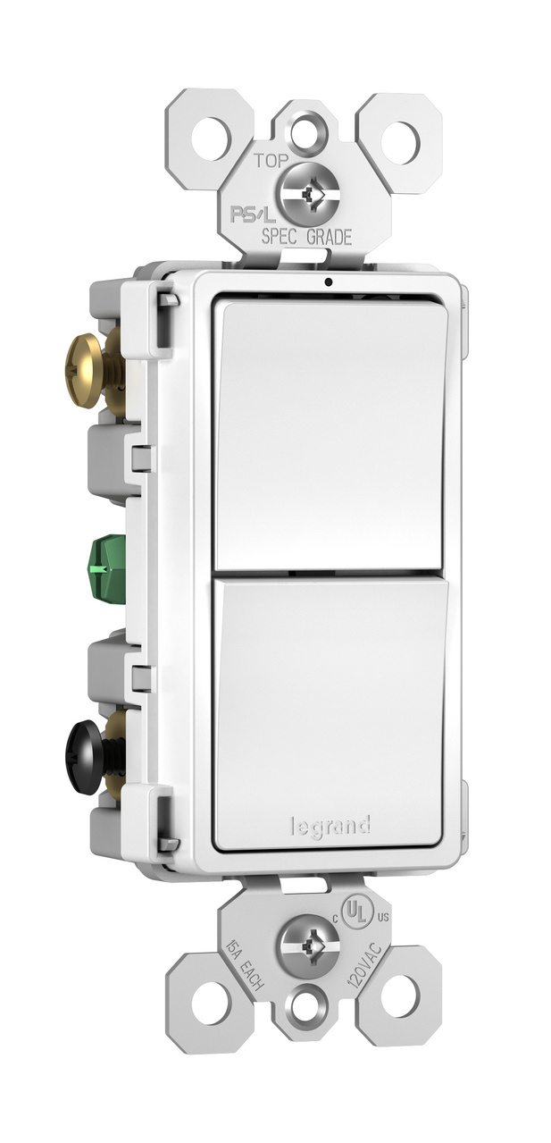 radiant® RCD33W Combo Switch, White | Legrand on