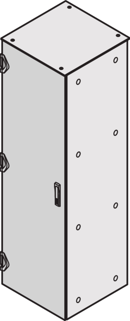 Image for Plain steel door IP 55 (Varistar), 3-point locking, RAL 7021/RAL 7035 from Schroff - North America