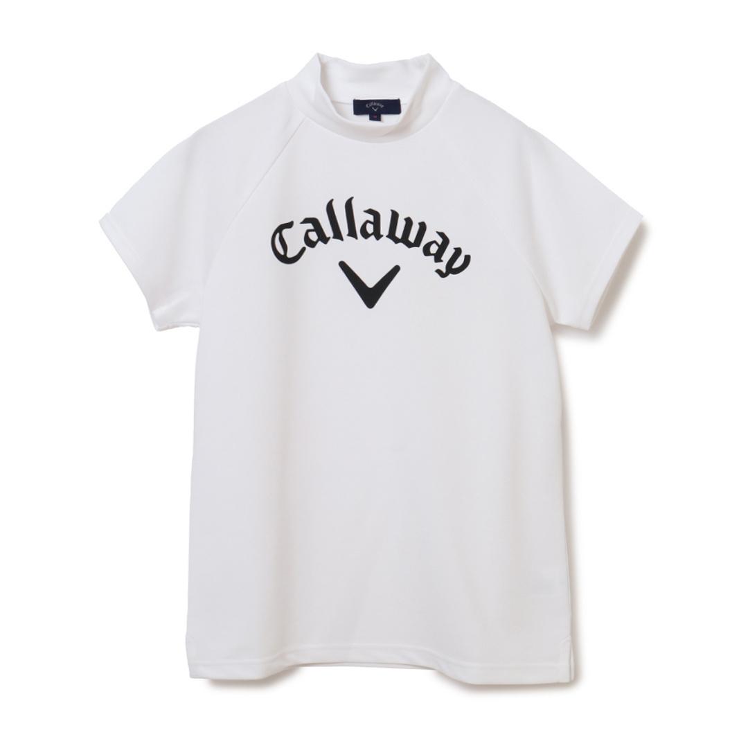CALLAWAY 【オンライン限定】ストレッチスムース ビックロゴ モックネック半袖シャツ (WOMENS)