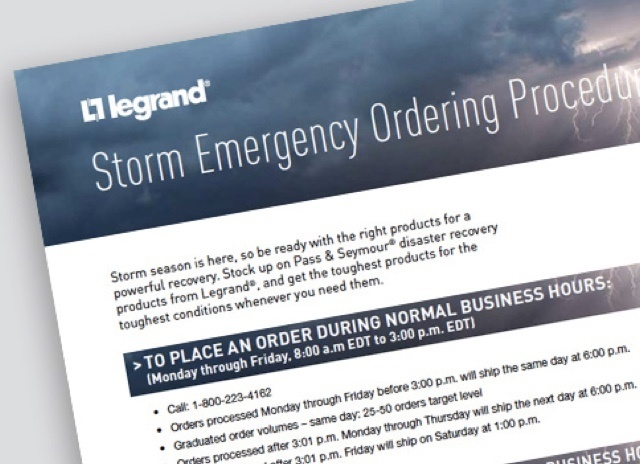 Document page with title text: Storm Emergency Ordering Procedure