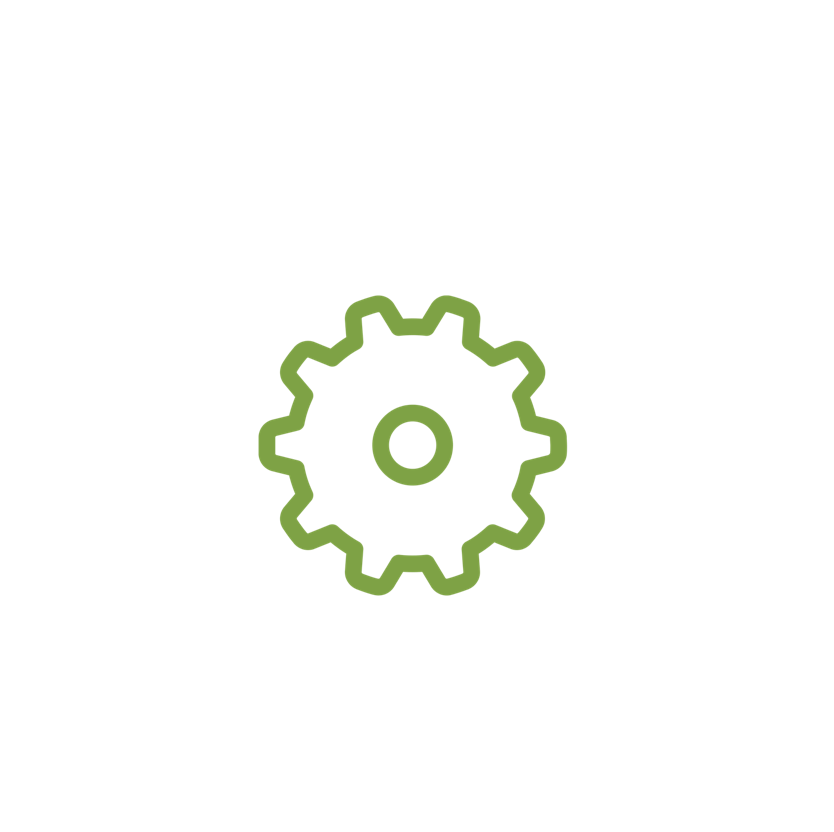 Pinwheel icon with green outline