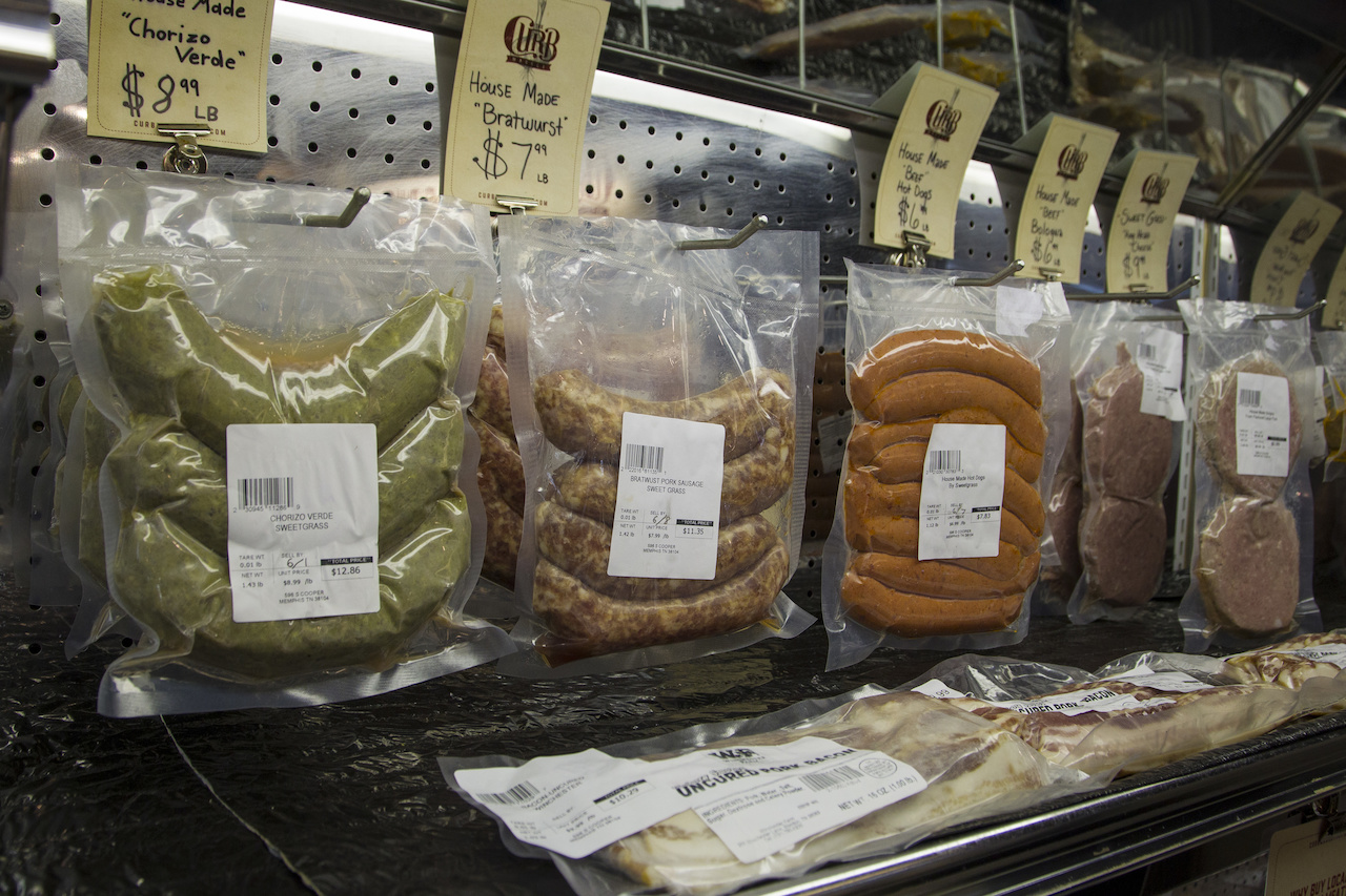 ...and there's an amazing selection of house-made sausages, crafted by Ryan Trimm and the team at Sweet Grass.