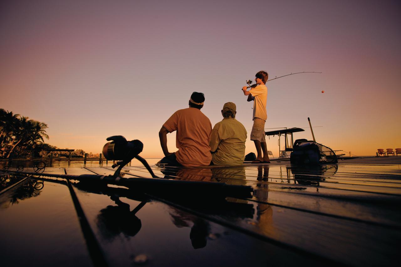 Dockside fishing