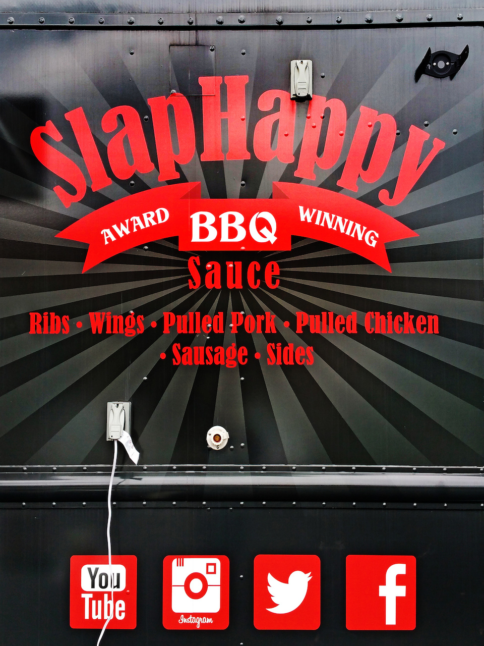 Follow SlapHappy BBQ on social media to keep up with their whereabouts!