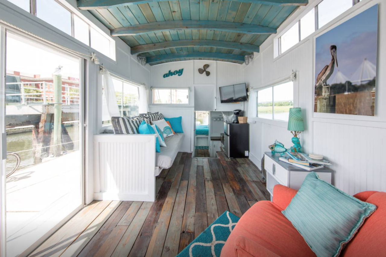 Skip the hotel when you can stay on a houseboat!