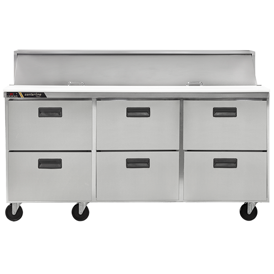Centerline™ by Traulsen 72in Prep Table w/ Drawers