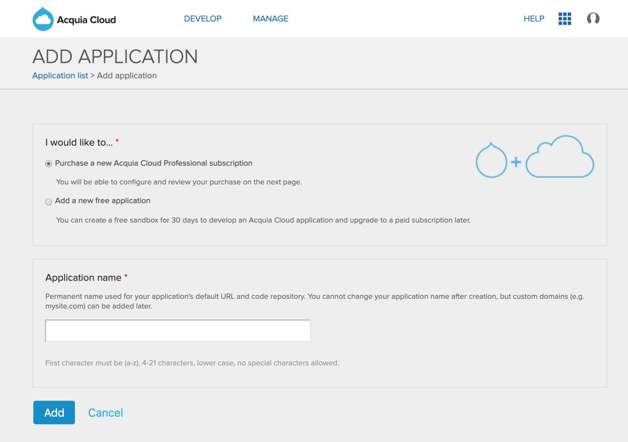 Add an application