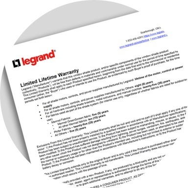 icon of Legrand warranty document