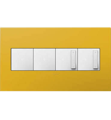 adorne 4-Gang Honey Wall Plate