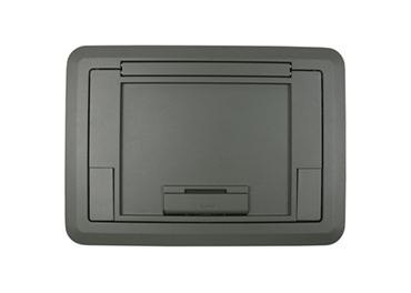 Surface Style Cover with Floor Insert Gray Powder Coated Finish, EFB45CTCGY
