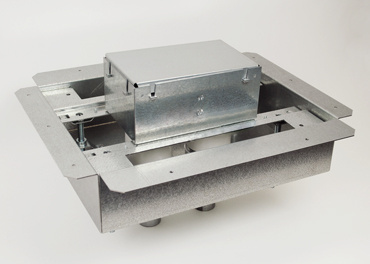 8802S-FC 2-gang flush floor box isometric view