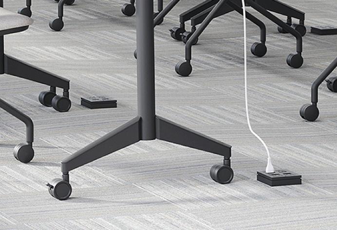 In-floor electrical power