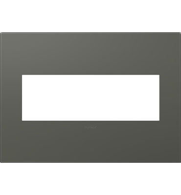 adorne 3-Gang Moss Grey Wall Plate