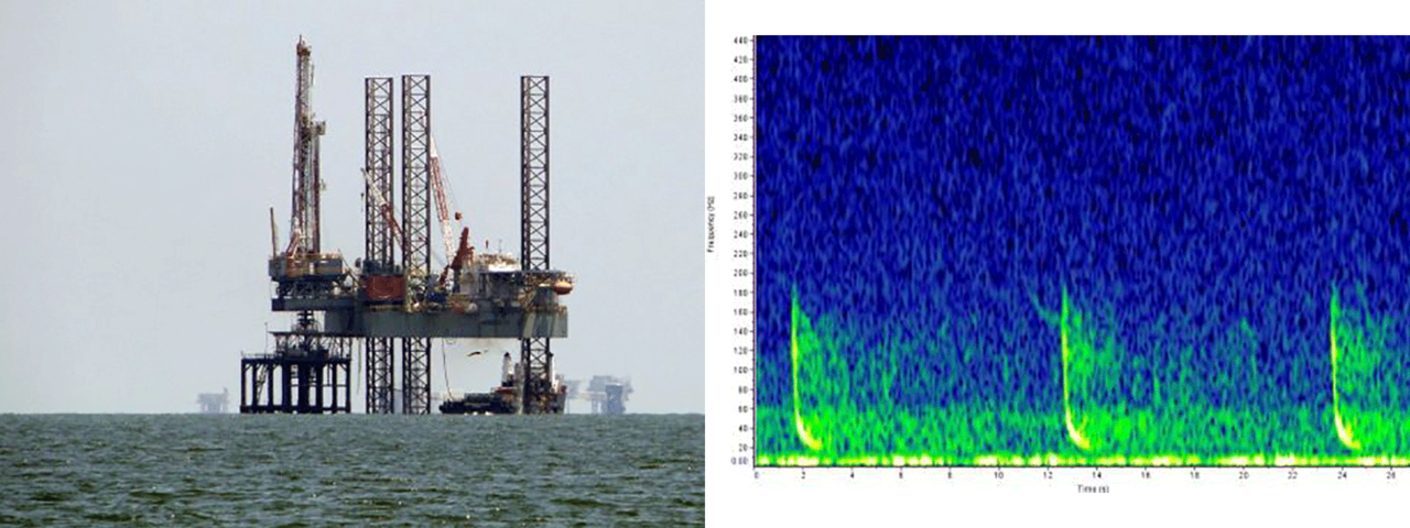 oil rig photo and sound chart