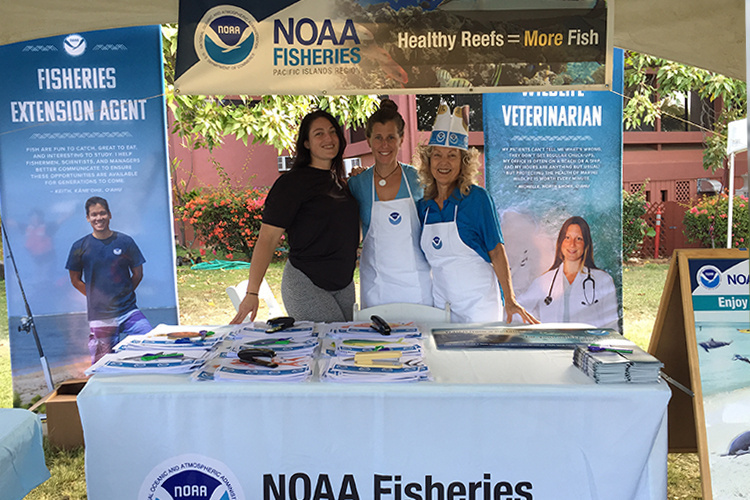Outreach NOAA booth.