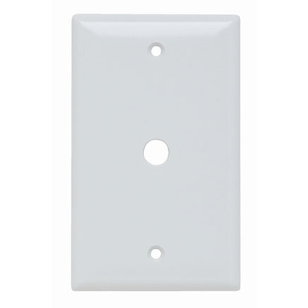 coaxial wall plate in white